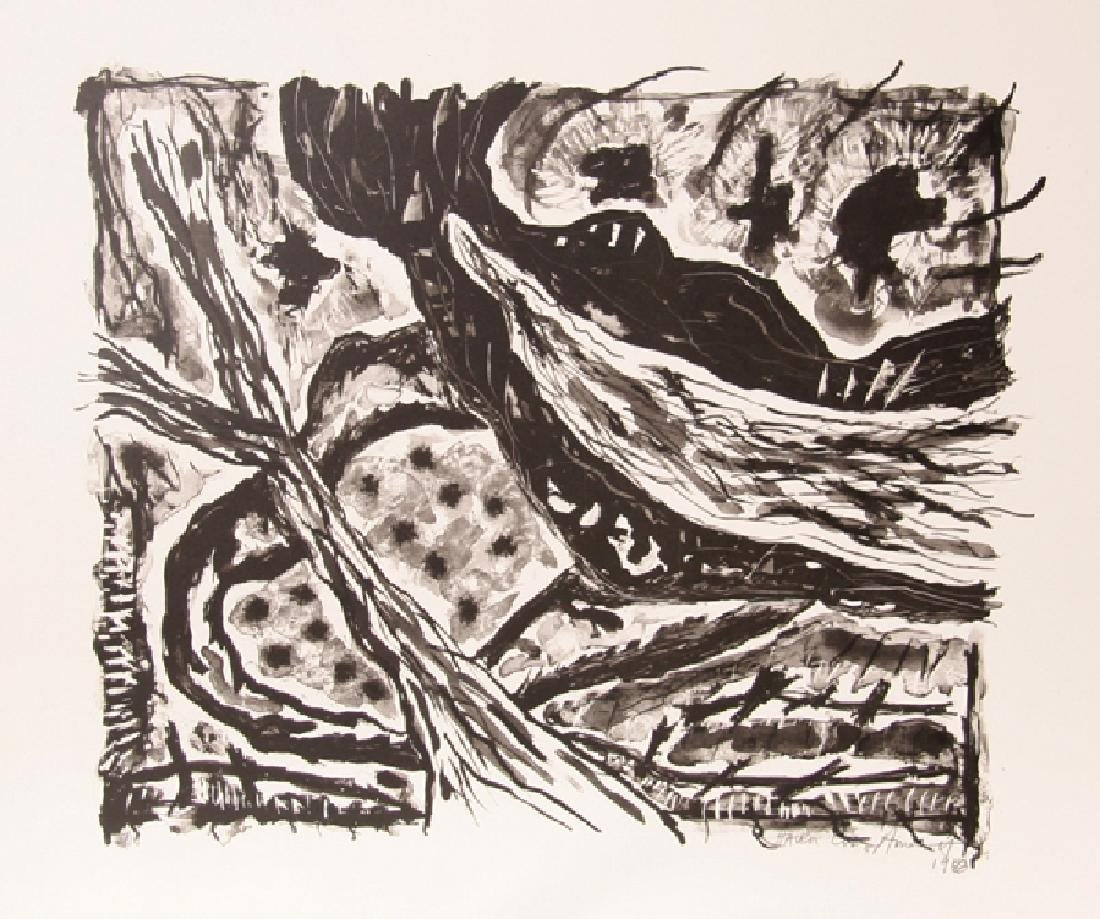 Gregory Amenoff, Haven (Black and White), Lithograph