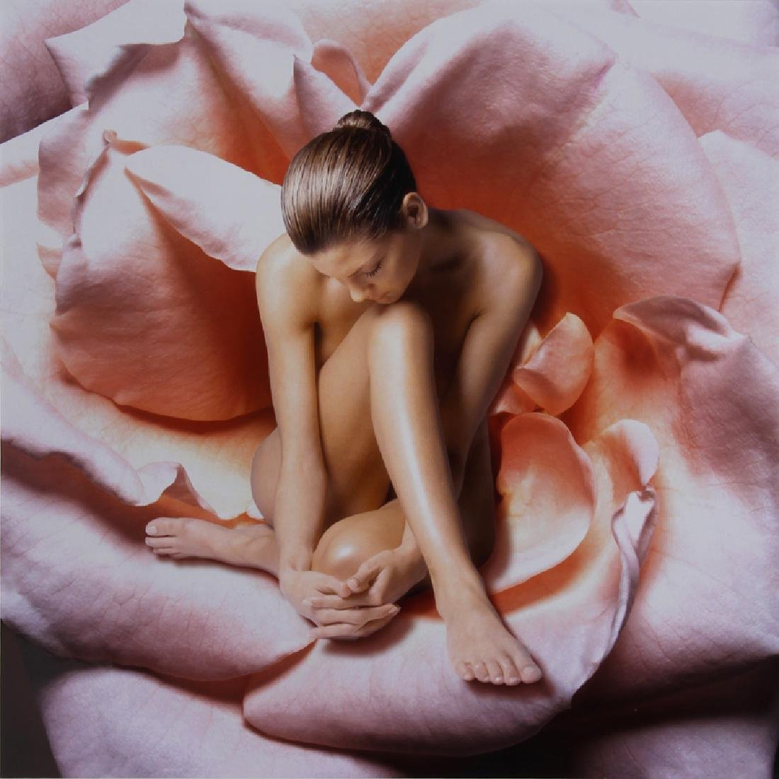 Beth Ava, Nude Woman in Rose, Ektacolor Photograph