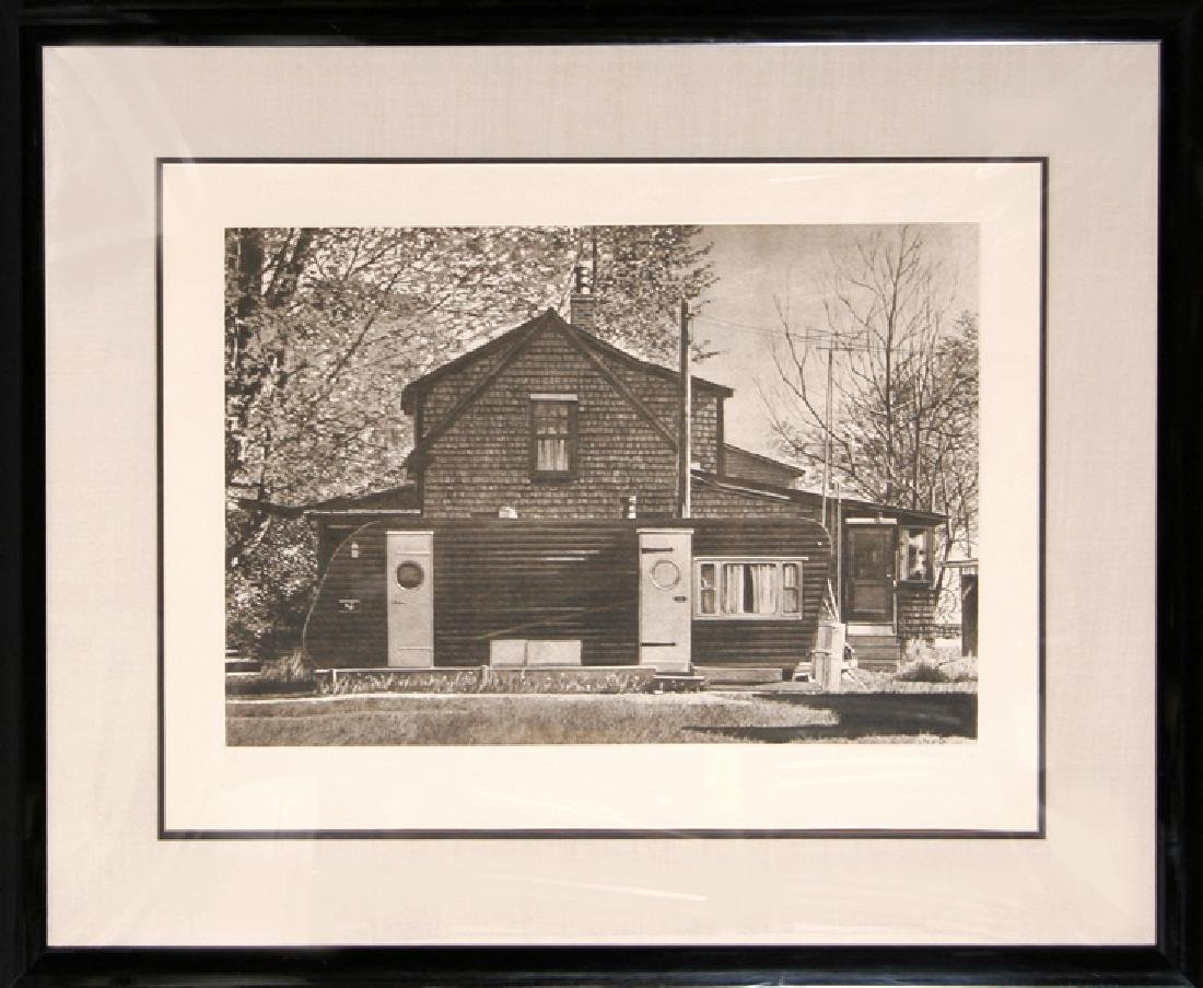 John Baeder,  (House with Trailer), Etching