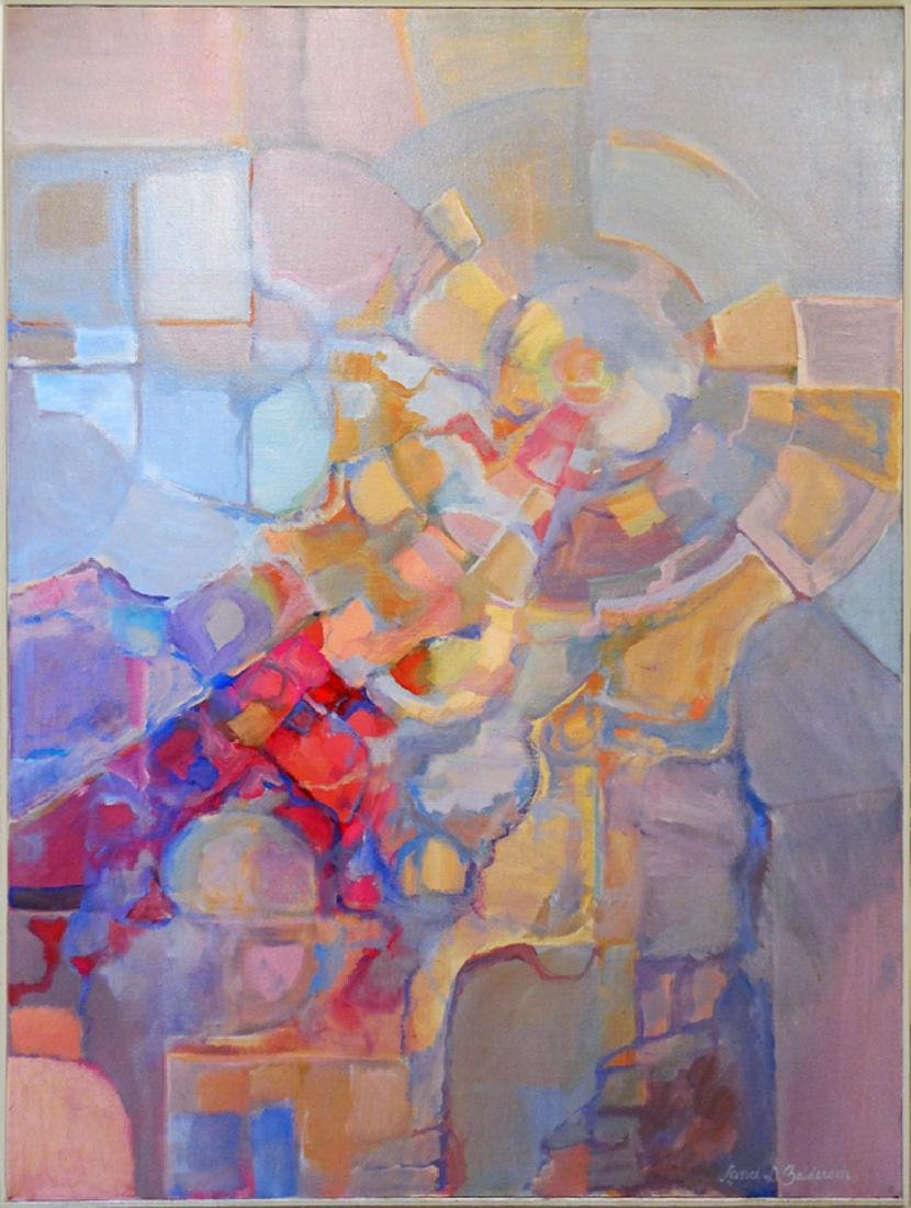Lance Balderson, Spiral Abstract, Oil on Canvas