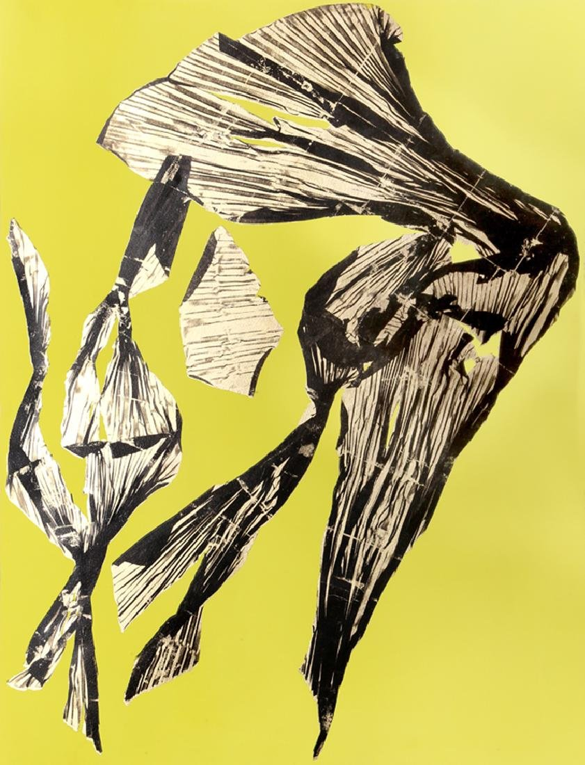 Lynda Benglis, Dual Nature (Yellow), Lithograph with