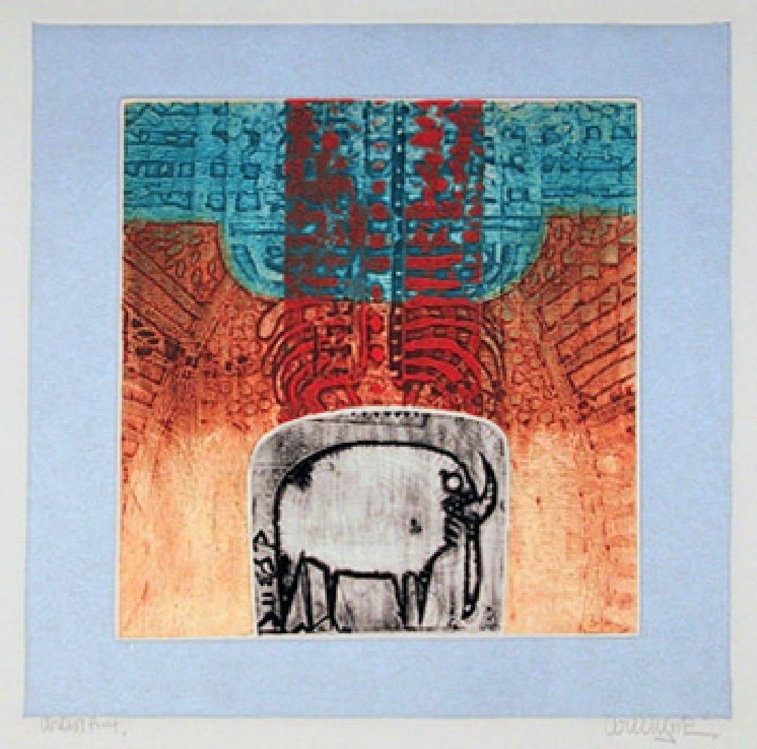 Arun Bose, Sheep, Aquatint Etching