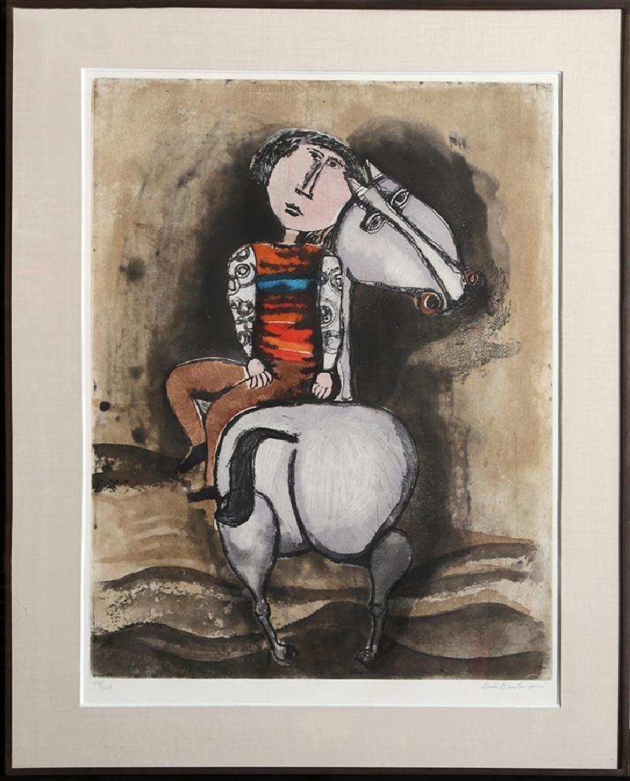 Graciela Rodo Boulanger, Boy on Horse, Etching