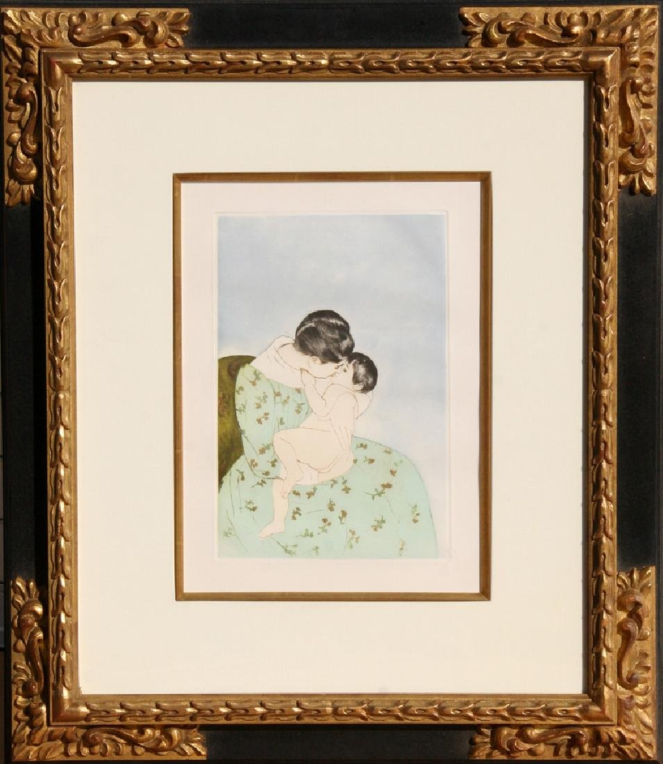 Mary Cassatt, Mother's Kiss, Soft Ground Etching and