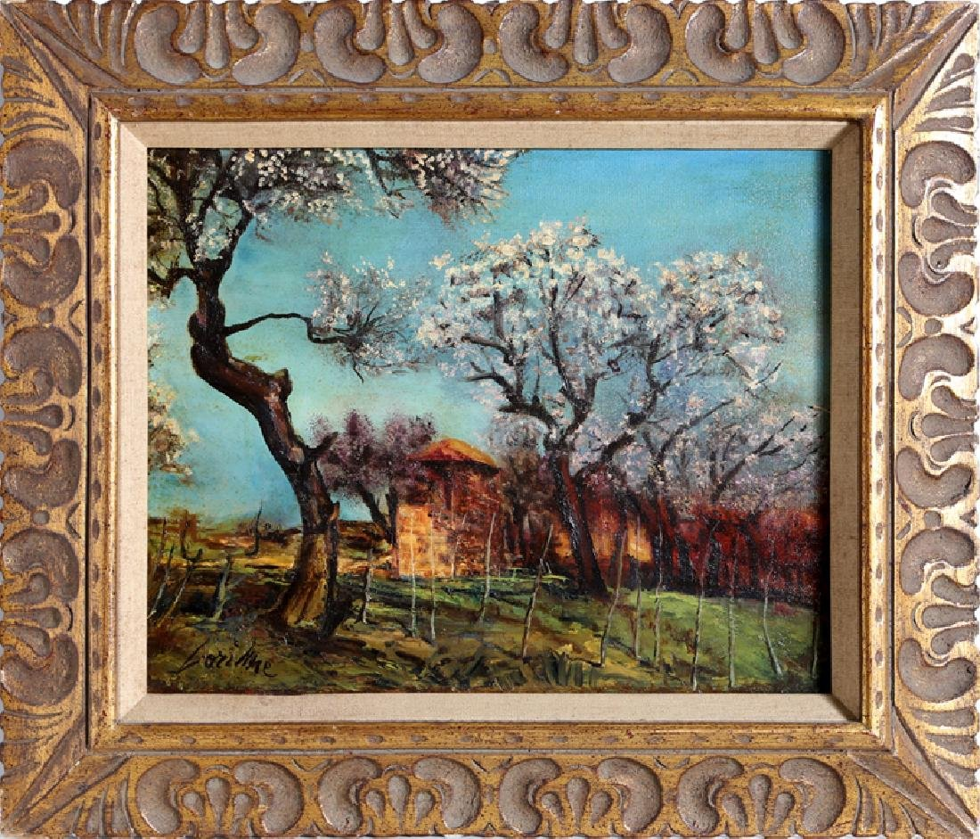Corinne, Spring Landscape, Oil on Board