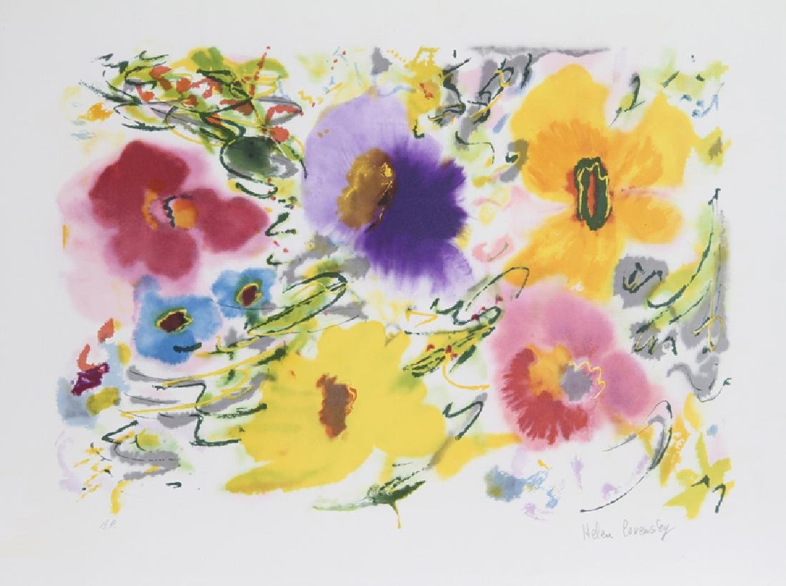Helen Covensky, Yellow Spring, Lithograph