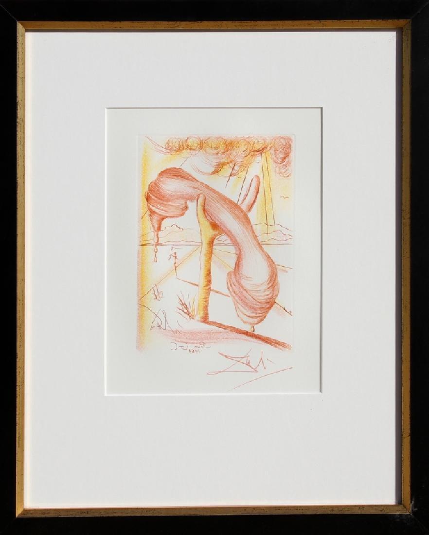 Salvador Dali, Soft Telephone (Color), Etching,