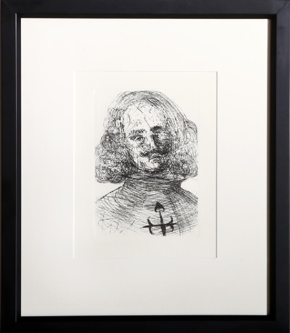 Salvador Dali, Velazquez, Restrike Etching