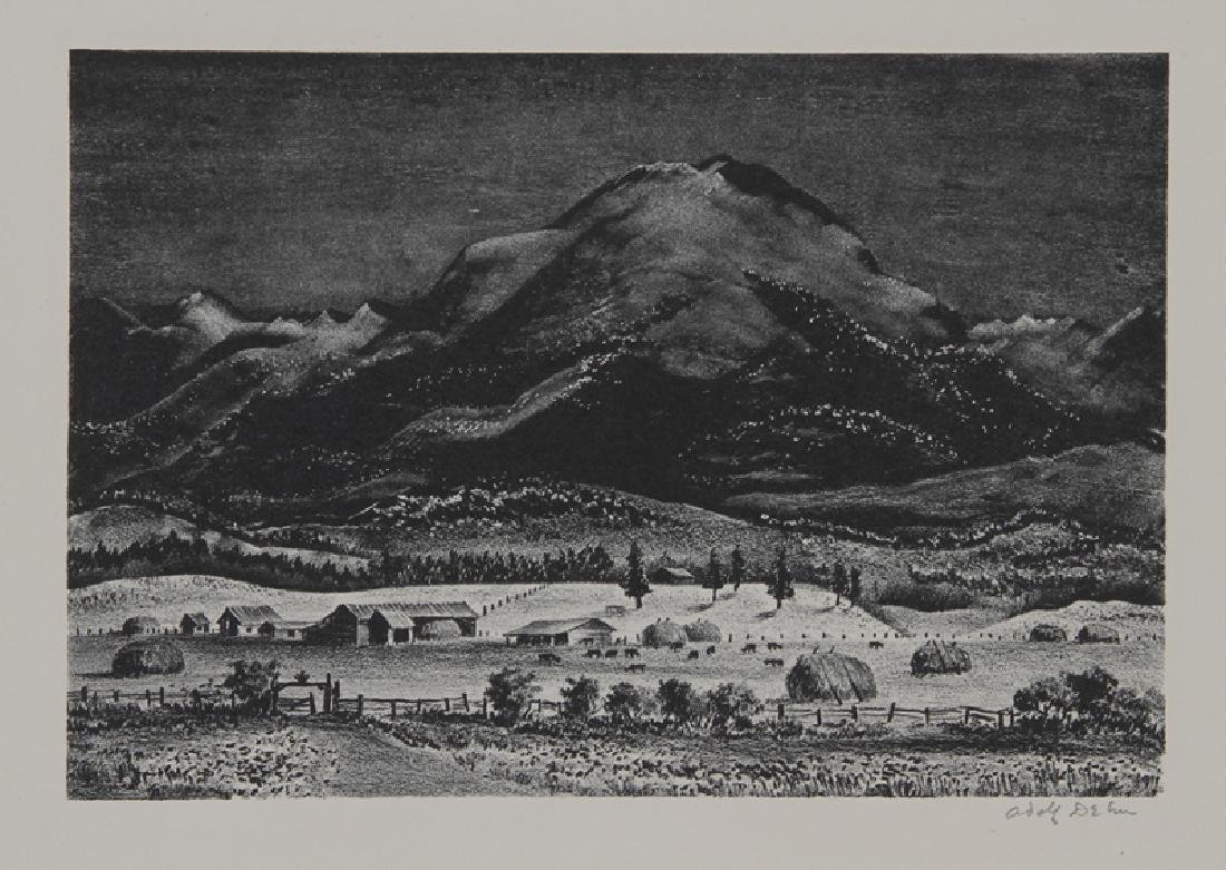 Adolf Arthur Dehn, Black Mountain, Lithograph