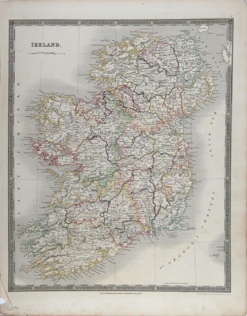 John Dower, Map of Ireland, Engraving