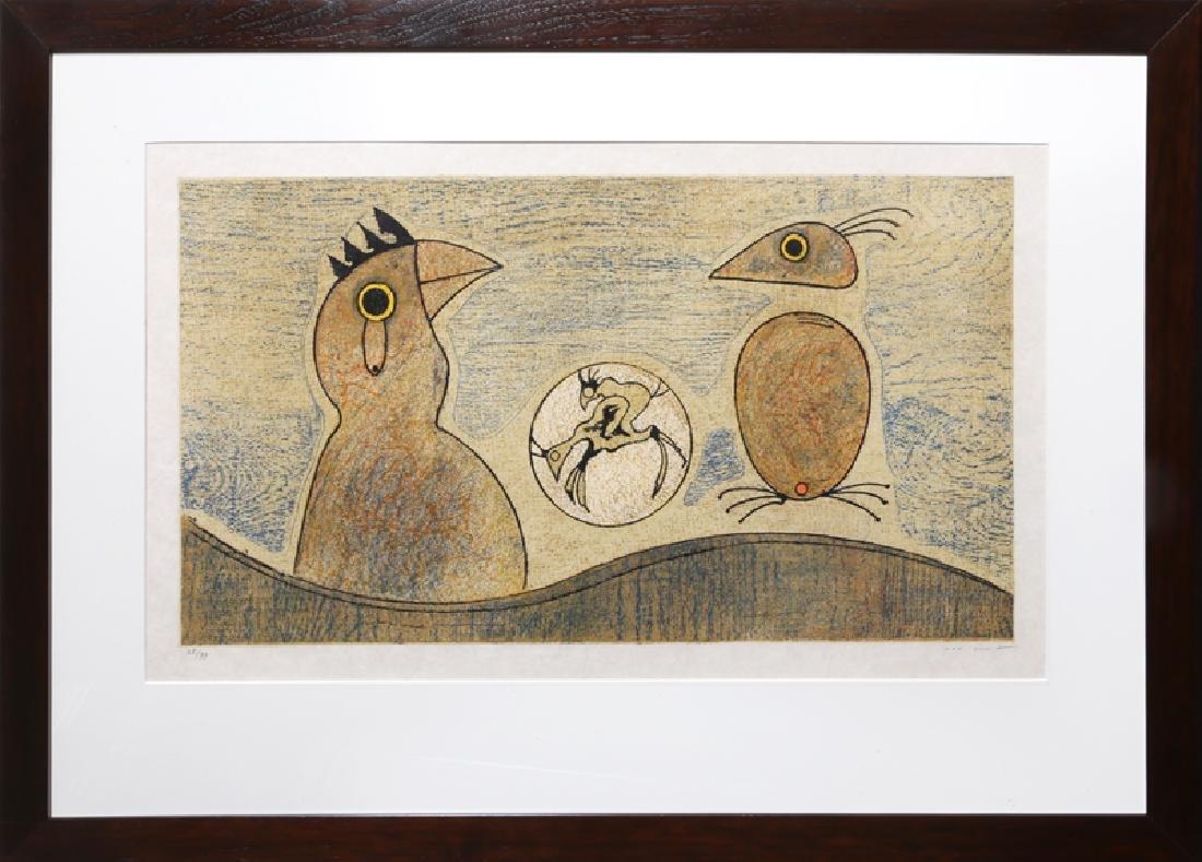 Max Ernst, Oiseaux Souterrains, Lithograph on Japon