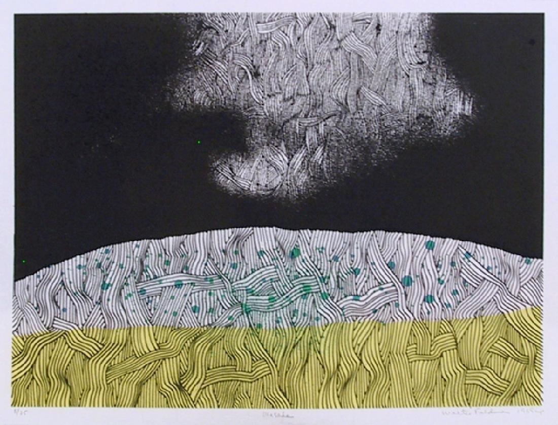 Walter Feldman, Masada 5, Woodcut [Signed and Numbered