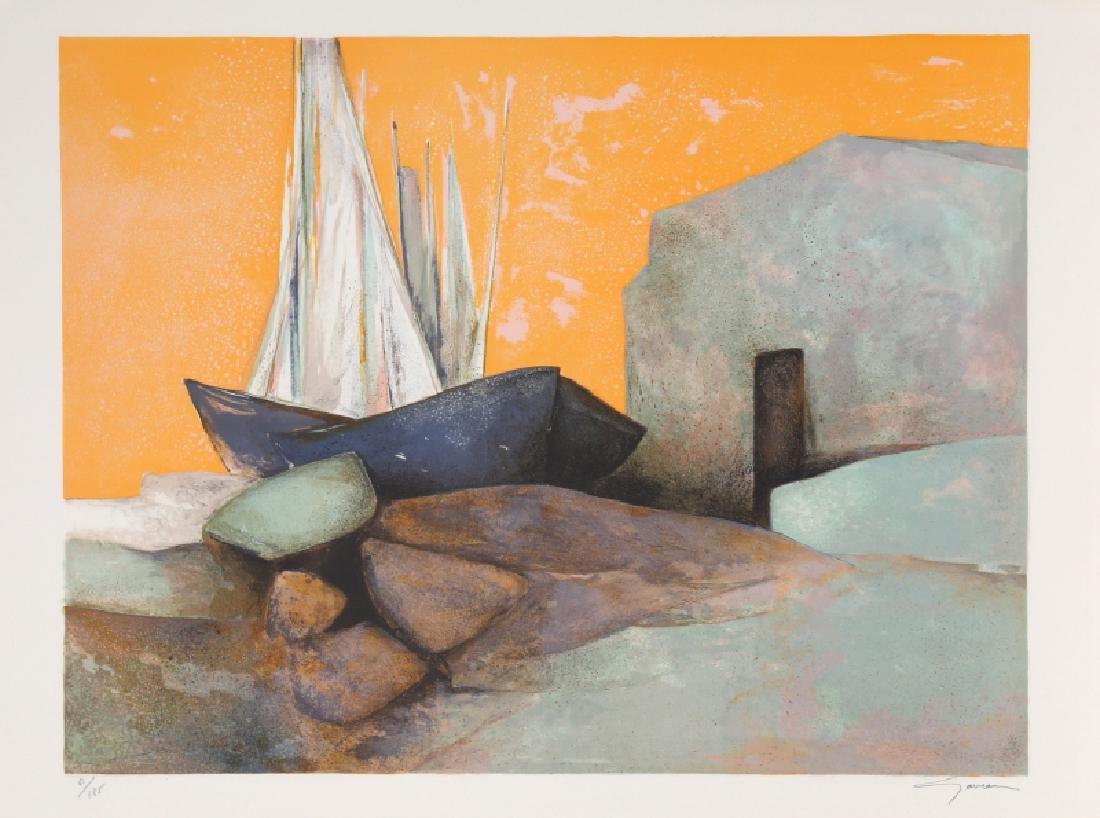Claude Gaveau, Les Mats (Checkmate), Lithograph