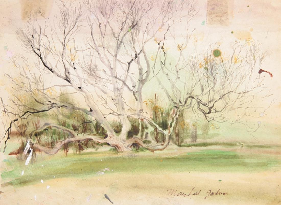 Marshall Goodman, Tree in Early Spring, Watercolor on