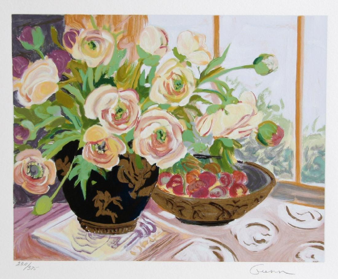Ellen Gunn, Spring Ranunculus, Silkscreen