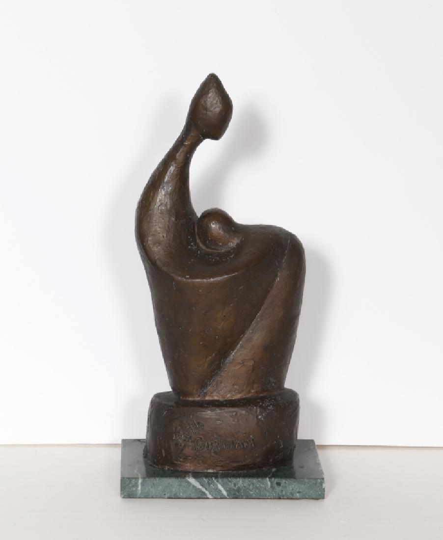 Ruth Gutman, Woman and Child, Bronze Sculpture,