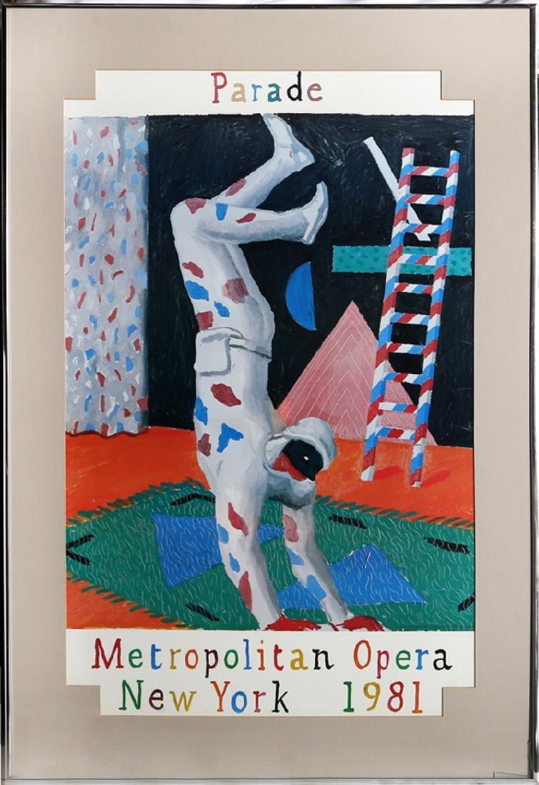 David Hockney, Parade, Metropolitan Opera, Poster