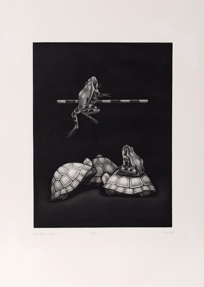 Kazuhisa Honda, Jumping Frog, Mezzotint