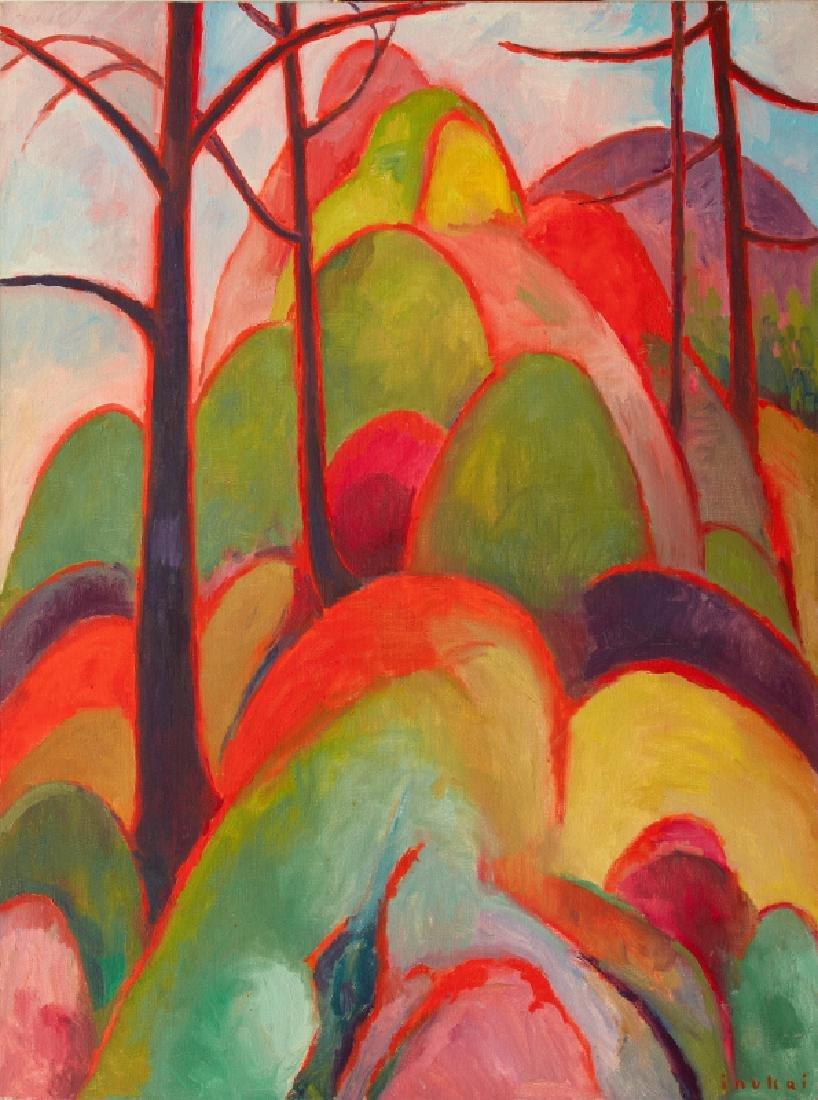 Kyohei Inukai (aka Earle Goodenow), Spring, Oil on