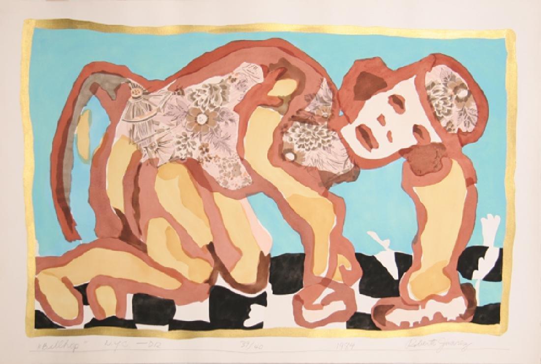 Roberto Juarez, Bellhop, Silkscreen and Woodcut
