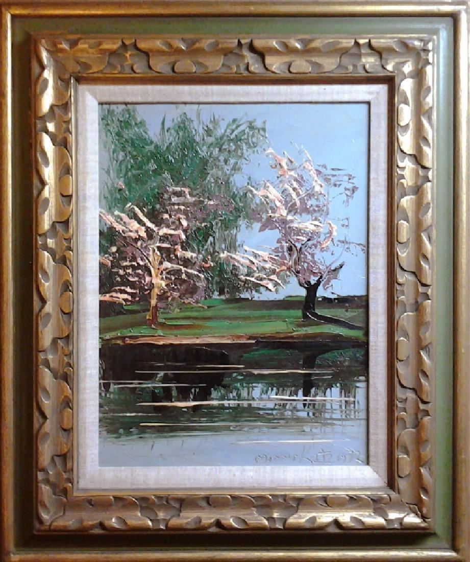 Morris Katz, Spring Trees, Oil on Canvas