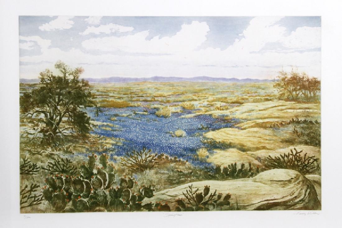Harvey Kidder, Spring Time, Aquatint Etching