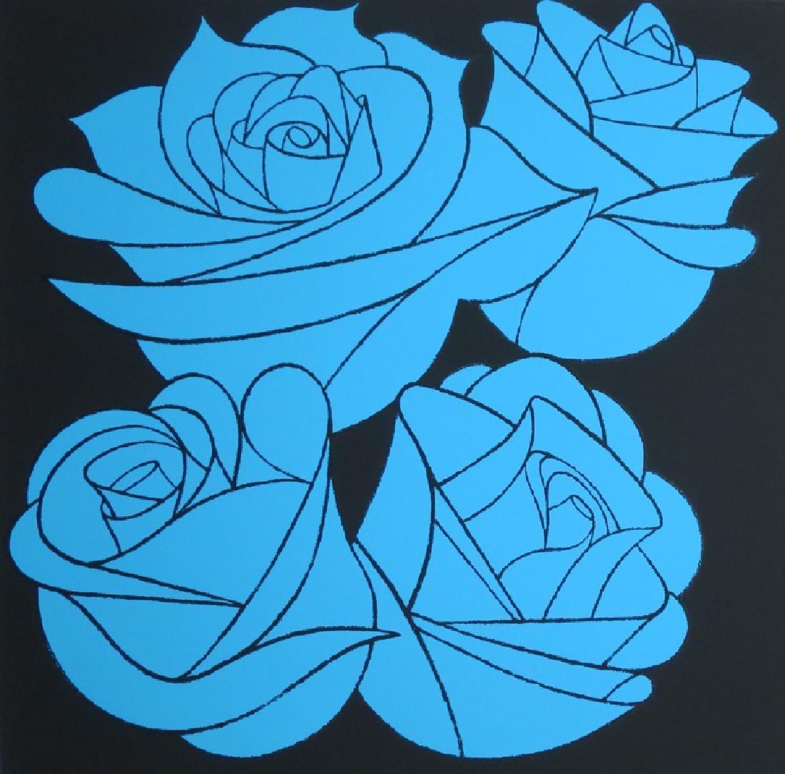 Scott Kilgour, Blue Riviera, Screenprint with Glitter