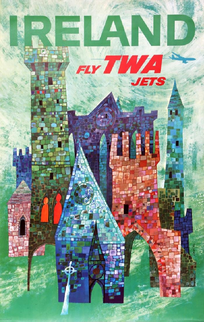 David Klein, TWA - Ireland, Poster
