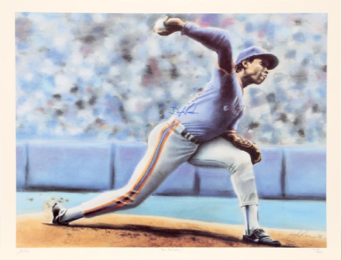 Jack Lane, New York Mets Dwight Gooden, Set of 3 Prints