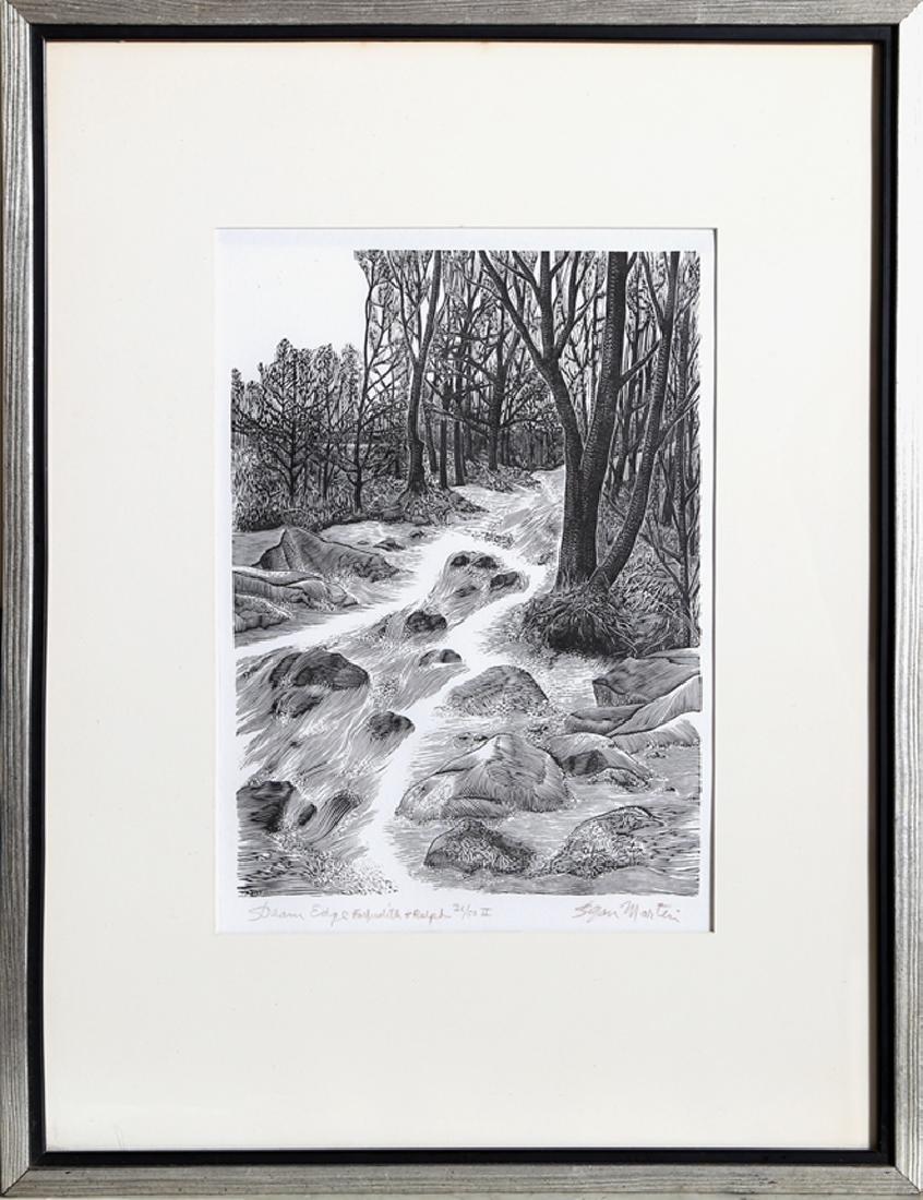 Stefan Martin, Stream Edge, Woodcut