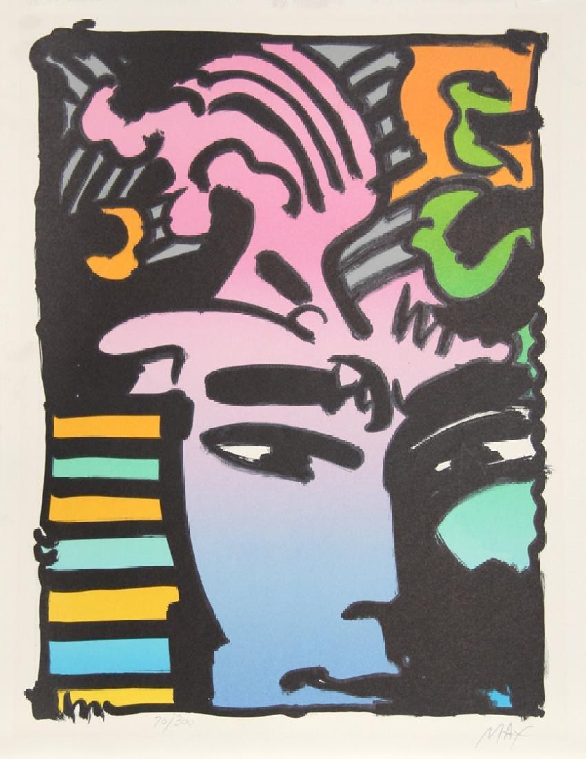 Peter Max, Aztec Man, Lithograph