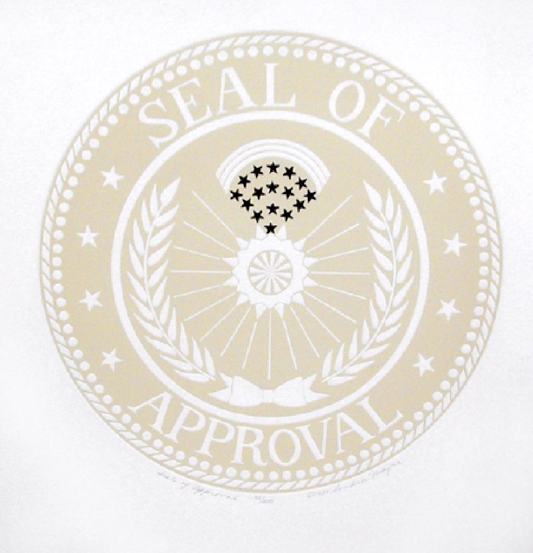 Sondra Mayer, Seal of Approval, Intaglio Etching and