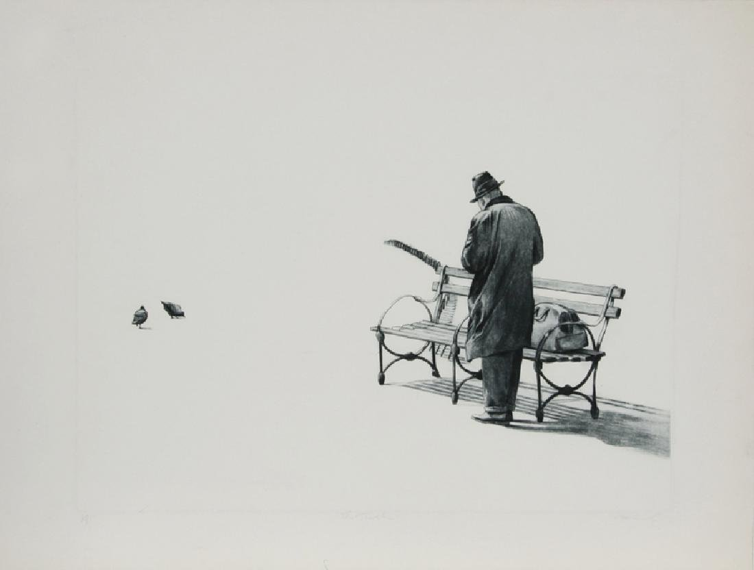 Harry McCormick, The Traveler, Etching