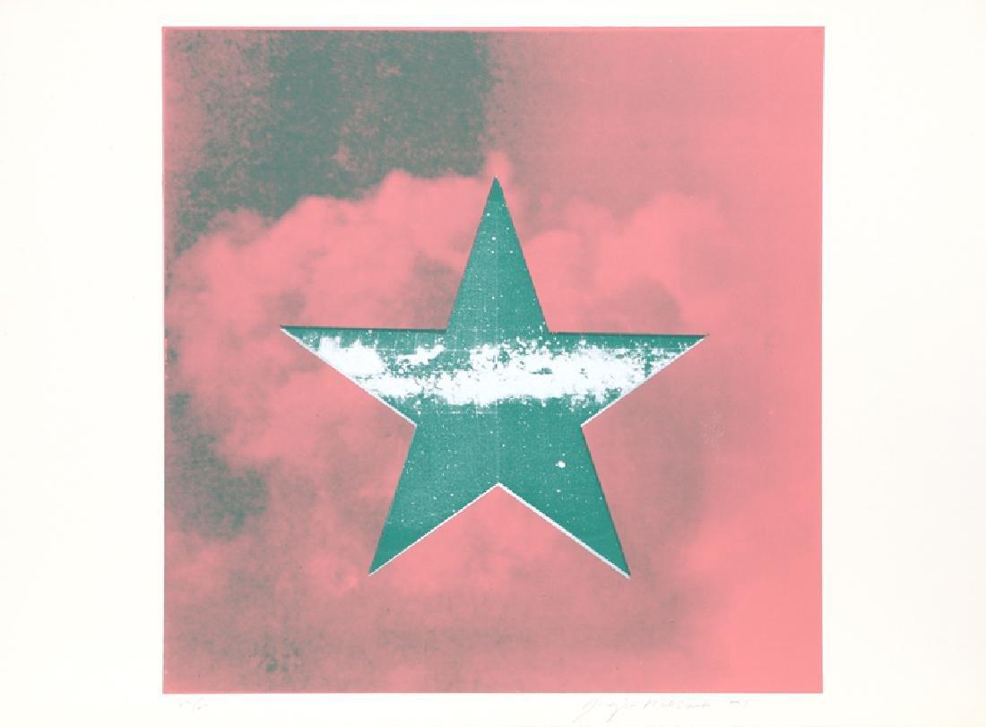 Joaquin Mercado, Estrella Verde sobre Rosa, Silkscreen