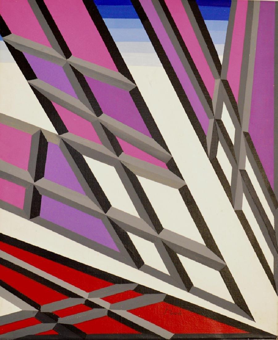 Genaro Moreno, Kinetic Energy, Acrylic on Canvas