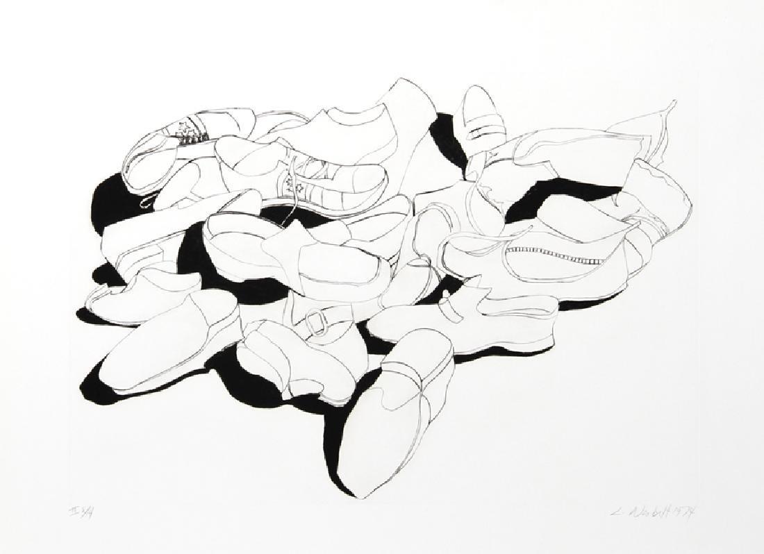 Lowell Blair Nesbitt, Shoes, Etching