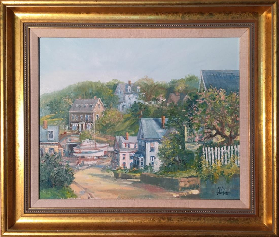 John Nesta, Gloucester Street, Oil on Canvas, signed