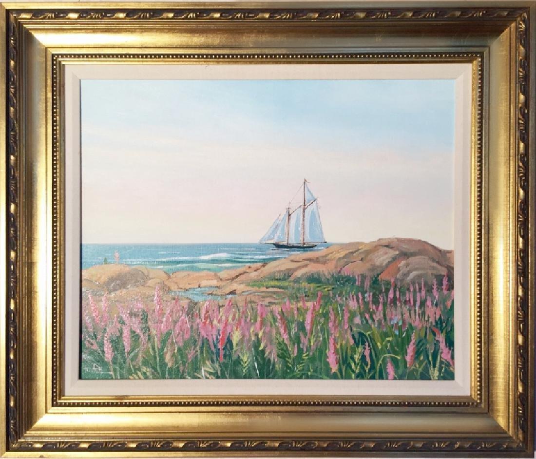 John Nesta, Schooner, Oil on Canvas