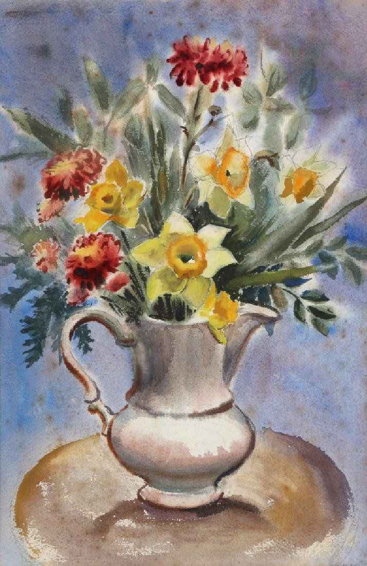 Eve Nethercott, Vase of Spring Flowers (P2.48),