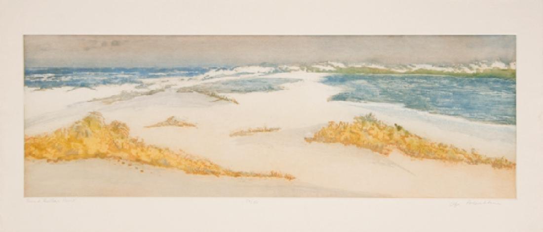Olga Poloukhine, Sand Dollar Point, Aquatint Etching