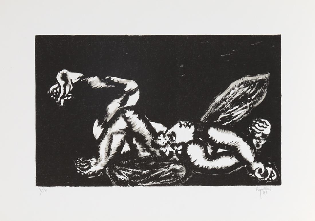 Juan Garcia Ripolles, Fallen Angel (Black), Lithograph