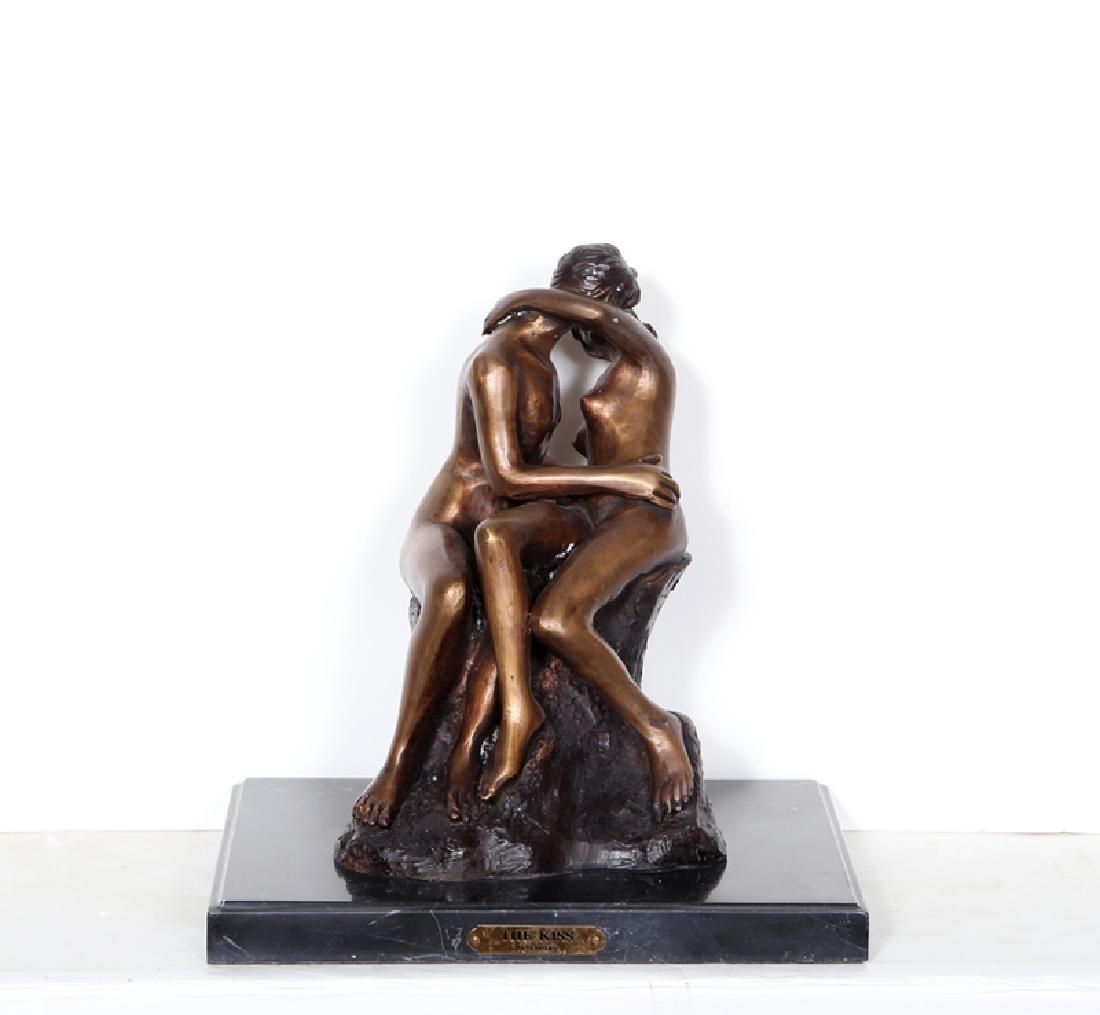 Auguste Rodin, The Kiss, Bronze Sculpture