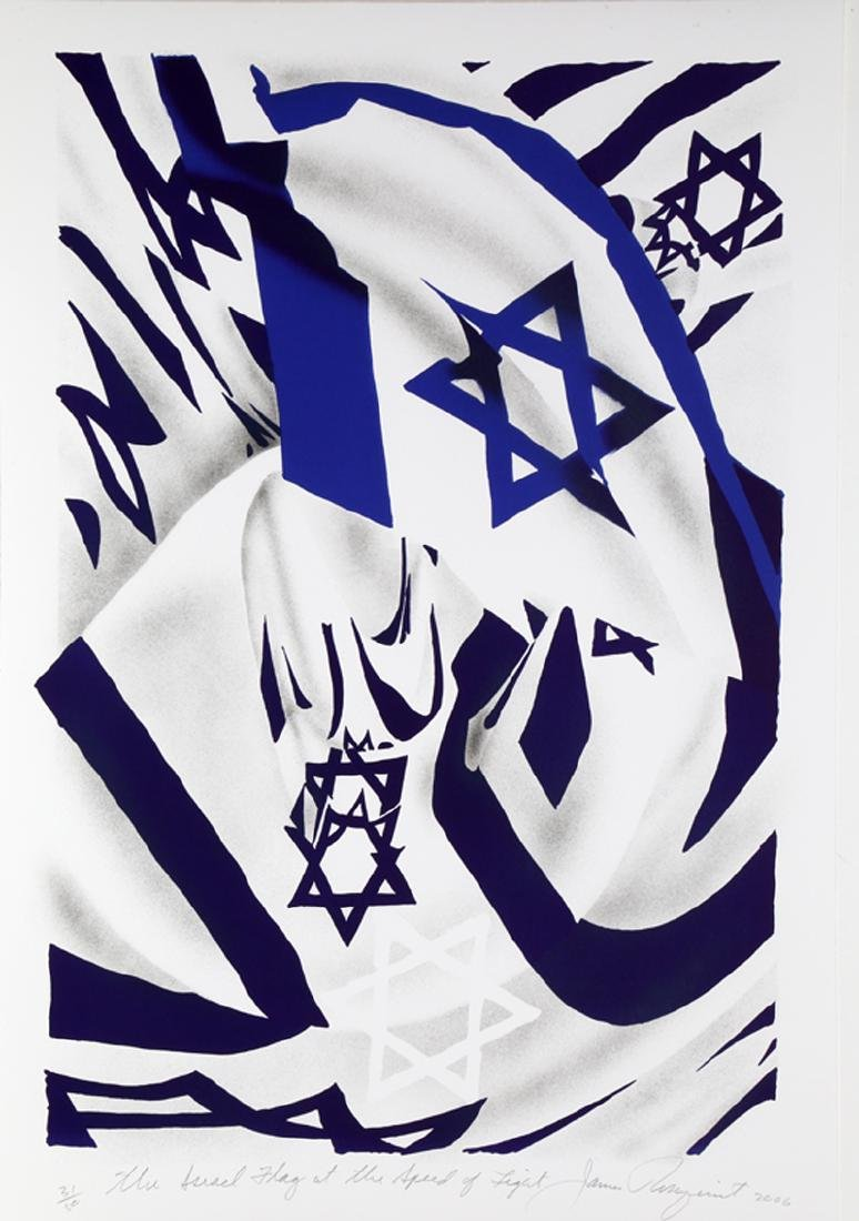James Rosenquist, Israel Flag at the Speed of Light,