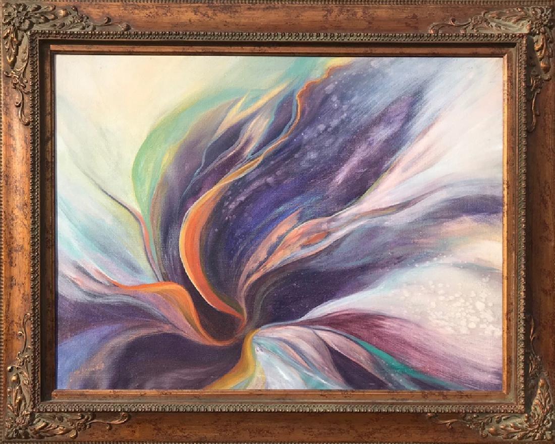 Gloria Rosenthal,  - Purple Abstract, Oil on Canvas