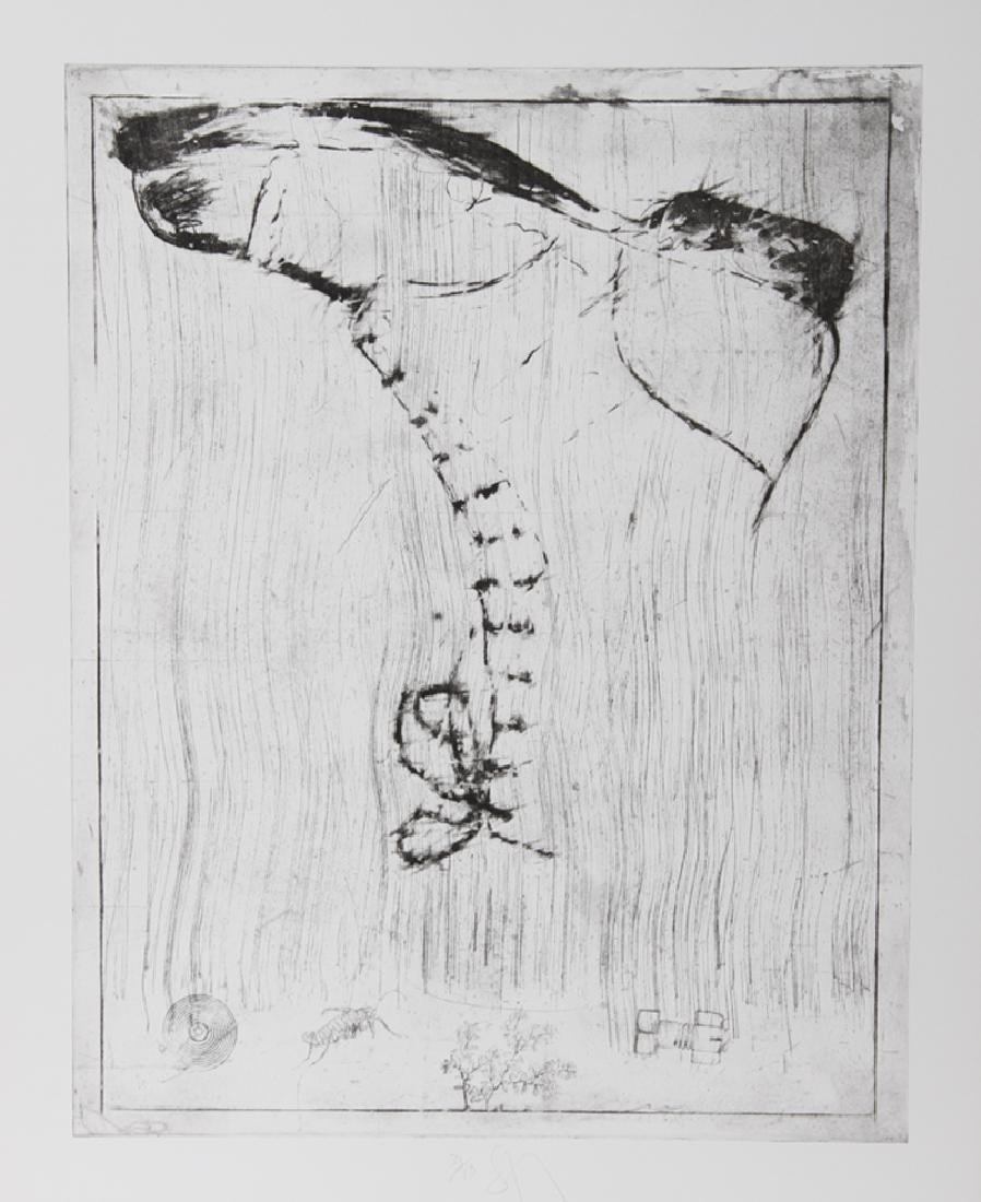 Donald Saff, Boot, Etching