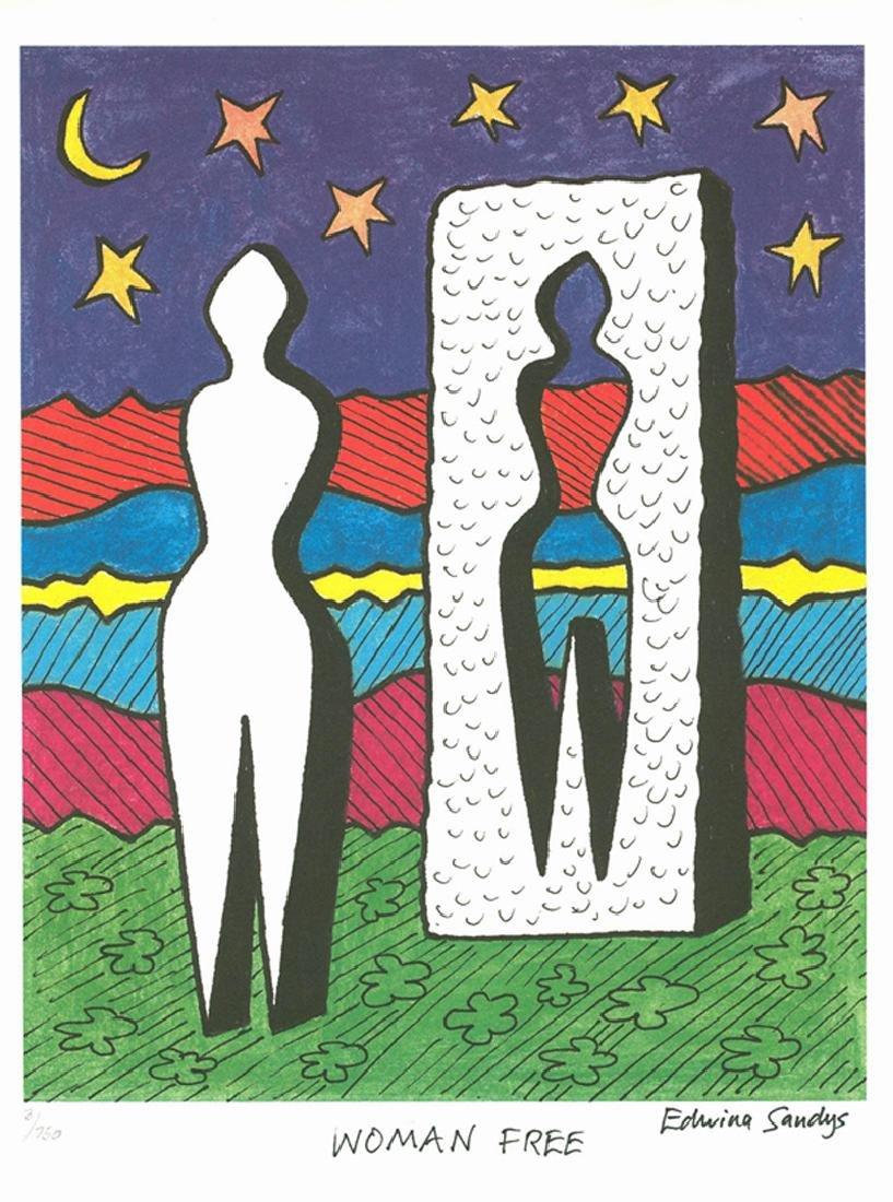 Edwina Sandys, Woman Free - United Nations, Lithograph