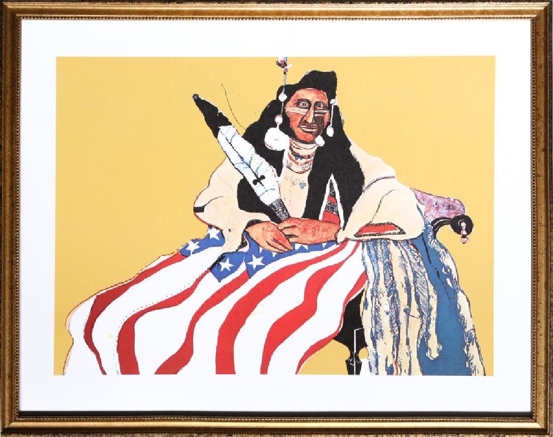 Fritz Scholder, Bicentennial Indian, Offset Lithograph