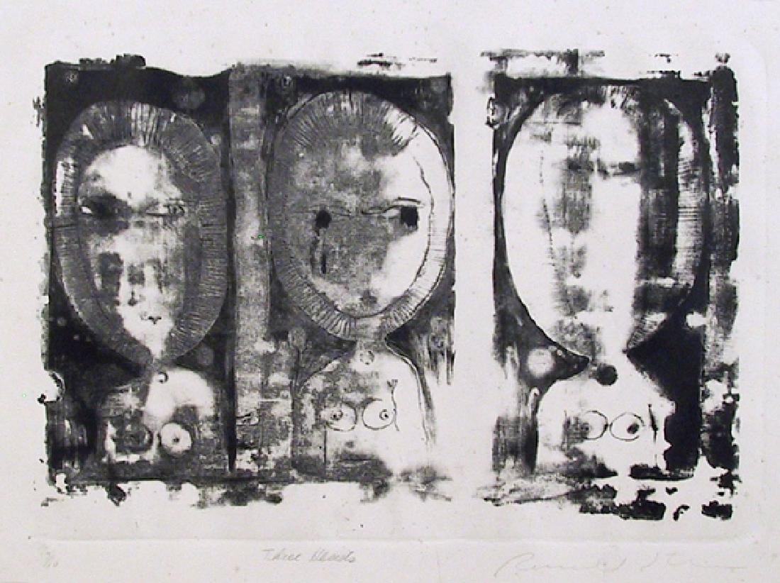 Ronald Jay Stein, Three Heads, Etching