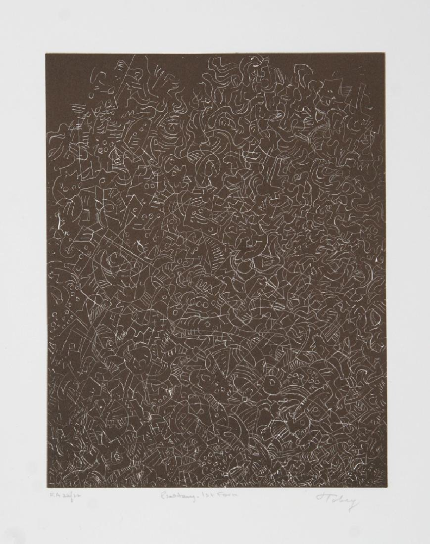 Mark Tobey, Psaltery, 1st Form, Etching on BFK Rives