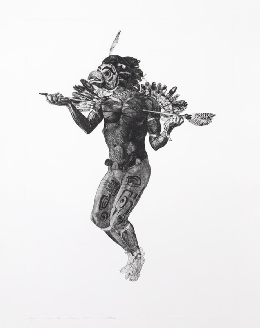 Ivan Valtchev, Bela Bela Shaman Dancer, Etching